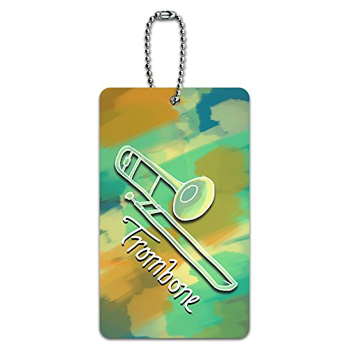 Trombone - Musical Instrument Music Brass ID Tag Luggage Card Suitcase Carry-On