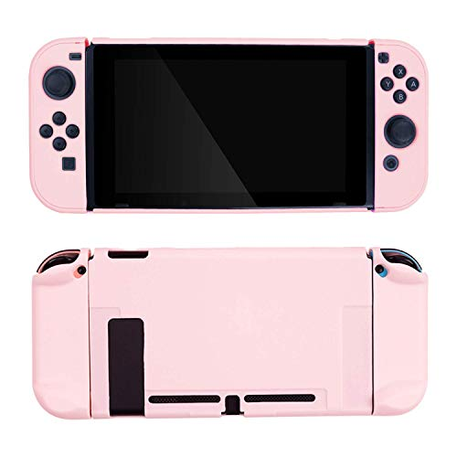 GeekShare Switch Protective Case Slim Cover Case for Nintendo Switch and Joy Con - Shock-Absorption and Anti-Scratch (Sakura Pink)