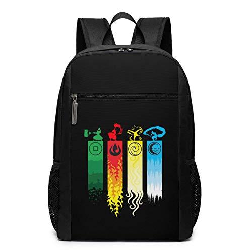 Schultasche Reiserucksack Avatar The Last Legend Airbender of Korra Aang Backpack Laptop Backpack School Bag Travel Backpack 17 Inch