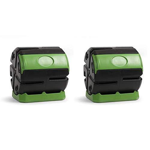 Review Of Hot Frog 37 Gallon Chamber Quick Curing Rolling Compost Tumbler Bin (2 Pack)