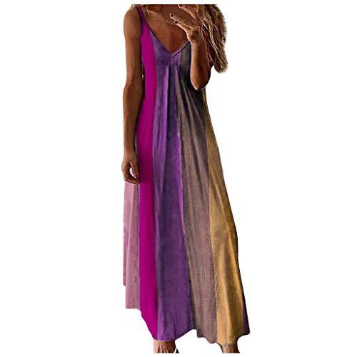 Sommer Kleidung Für Damen Platzsparende Kleiderbügel Festliche Kleider Für Damen Kleid Mädchen Puppenkleidung Mädchen Teenager Mädchen Kleidung Ballkleider Lang(Pink,5XL)
