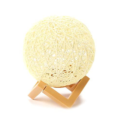 ninon ニノン LED ルーム ライト 調光機能付き 間接照明 おしゃれ 編み上げボール テーブルランプ スタンドライト ランプ デスク シンプル 卓上 机 インテリア リビング 寝室 デスクライト オフホワイト
