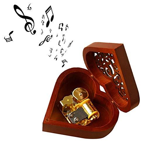 FEANG Caja de música de Madera Hecha a Mano Regalo de Feliz cumpleaños for Novia Lujoso Amor corazón corazón Caja Regalos de San Valentín (Color : Swan Lake)