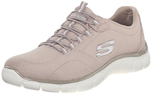 Skechers Empire-Take Charge, Zapatillas de Deporte Mujer, Beige (Taupe), 39