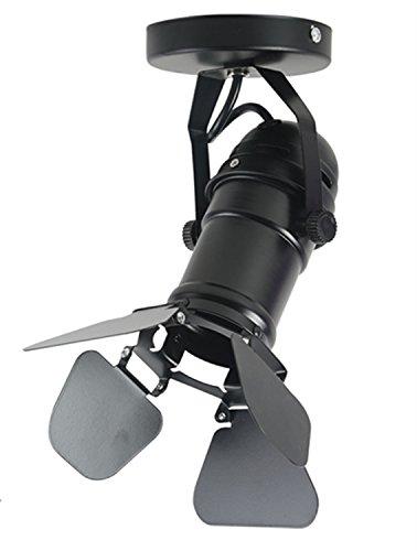 YUENSLIGHTING (Aucune ampoule) Plafonnier industriel avec E27 Lampe Titulaire Retro Loft Noir Plafond Éclairage pour Stage Hôtel Bar Bureau Décor