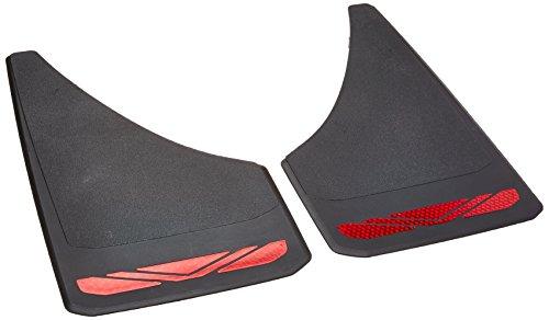 RoadSport 4649 'A' Series Protector antisalpicaduras de ajuste universal (negro con prisma rojo; 12-3/4″…