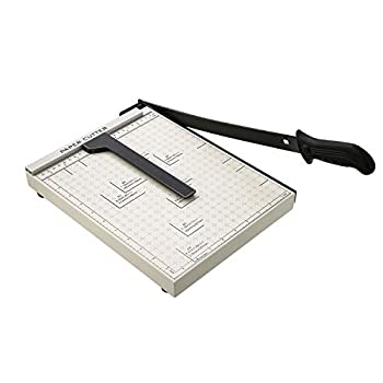 A4 Paper Trimmer Guillotine Paper Cutter 12  Cut Length 10 Sheet Capacity Engraved with Grid Lines ClassicCut Lite White