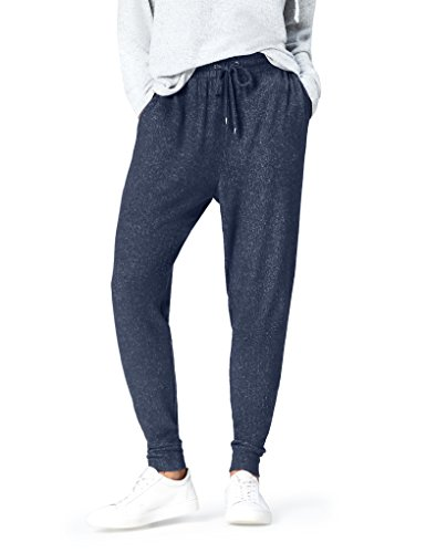 find. Joggers with Drawstring Waist and Tapered Cut Hose, Blue (Navy Marl), 38 (Herstellergröße: Medium)