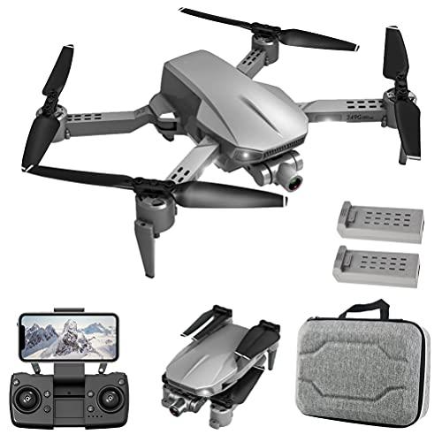 FXQIN Drone GPS Transmisión de imágenes 5G, GPS Drone with 4K HD WiFi Camera, GPS Mini Drone con Cardán mecánico de 2 Eje, Drone Plegable Cámara de 90 ° ESC, 1200 m de Distancia de Vuelo