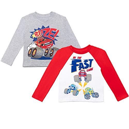 Nickelodeon Blaze and The Monster Machines Toddler Boys 2 Pack Long Sleeve T-Shirt 3T