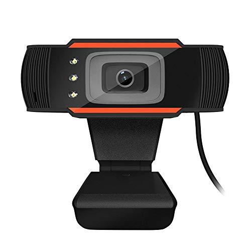 HD Wecam met microfoon, met 3 LED-lampen, autofocus, plug and play, mini USB webcamera voor laptop, desktop, laptop, videochats online
