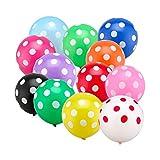 GRESAHOM Globos de lunares paquete de 40 unidades, 30,5 cm, colores Asssorted para fiestas, globos de látex para cumpleaños, bodas, baby shower, graduación, festival, decoración de fiesta