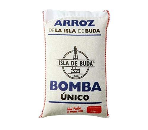La Isla de Buda- Arroz Redondo Bomba Único- Categoria Extra- 1 Kg