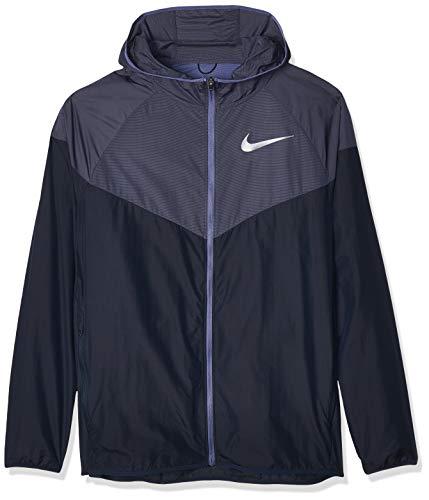 Nike Herren M NK Windrunner Sport Jacket, Obsidian/Sanded Purple/Reflective silv, L