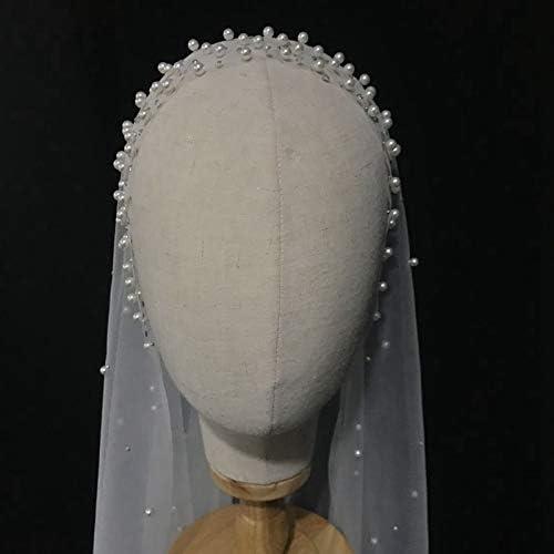 Bridal Veil Pearl Beaded White Bargain Trailing Long 1.5 wholesale Width Cath