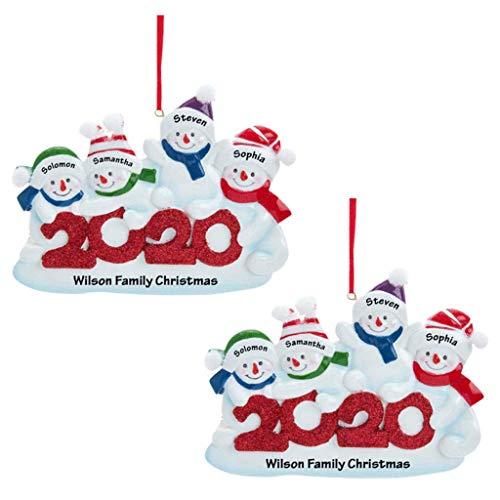 XXLYY Adorno Árbol de Navidad Decoraciones navideñas navideñas, en cuarentena en casa de árbol Personalizado Colgante de Navidad DIY para decoración del hogar (4, 1)