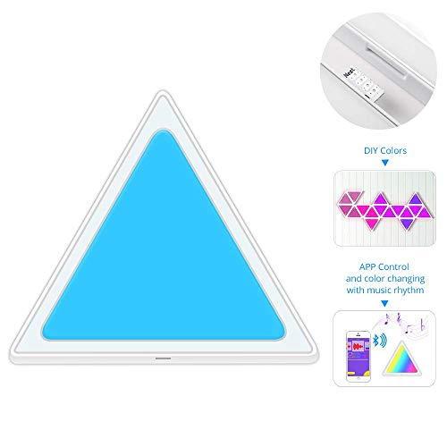 LED Smart Light Panels, Kreativ Mehrfarbig Modular Wandleuchte DIY Dreieck Panel-Lampe Bluetooth APP Music Control sconces Ausrüstung für Zimmer, Party,Lightpanel
