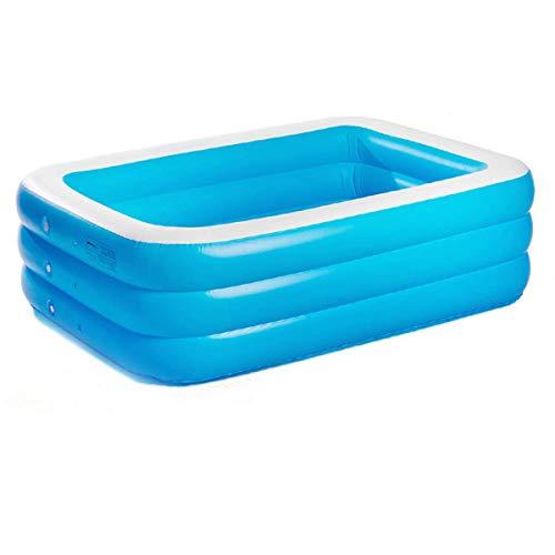 Andre Hasay Piscina Hinchable Azul Rectangular Conjunto de SPA Plegable Más íntima con Piscina Simple 190 * 140 * 60 cm-1