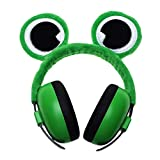 Casque Anti Bruit pour Bébé, Cache-oreilles Insonorisé pour Nouveau-né, Modélisation Animale Protection Auditive de Réduction du Bruit Renard/Grenouille/Girafe