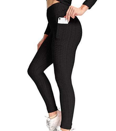 Lalamelon Mallas Push up Mujer Leggins Deportivos Yoga Leggings de Cintura Alta Pantalones Deporte con Bolsillos para Fitness Running Elásticos y Transpirables