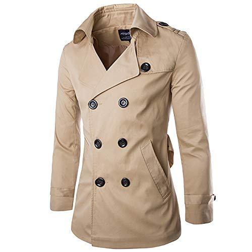 UJUNAOR Smoking Männer Schlank Mantel Trenchcoat Graben Mittlerer Langer Tuxedo Herbst Frühling Zweireihige Jacke Bluse