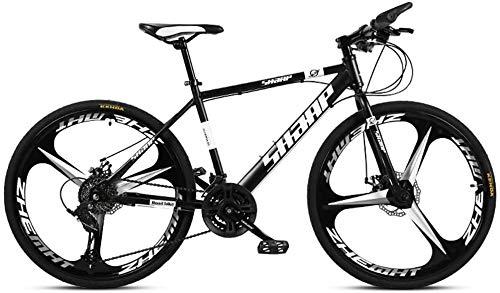 HCMNME Bicicleta Duradera 26 Pulgadas de Bicicletas de montaña, Doble Freno de Disco/Acero de Alto Carbono Bicicletas Frame, Playa de Motos de Nieve de Bicicletas, aleación de Aluminio rued
