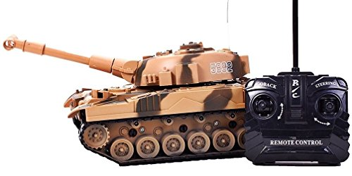 Hochwertiger Panzer mit Fernsteuerung (Braun) Geniale Sound- und Lichteffekte - HighTech RC Spielzeug mit Fernbedienung ohne Schussfunktion ferngesteuert