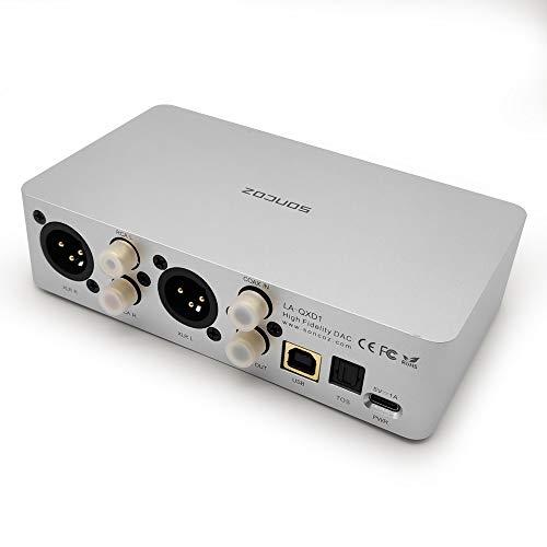 SONCOZ LA-QXD1(Silver) Digital HiFi Audio Converters (DAC) with XLR Fully Balanced