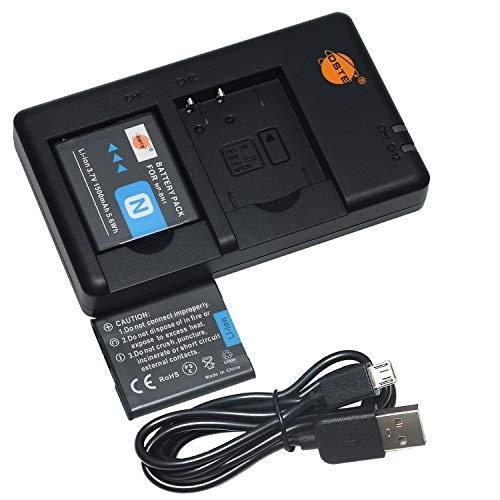 DSTE 2PCS NP-BN1(1500mAh/3.7V) Batería Cargador Compatible para Sony Cyber-Shot,DSC-QX10,DSC-QX100,DSC-T99,DSC-T110,DSC-TF1,DSC-TX5,DSC-TX7, DSC-TX9,DSC-TX10,DSC-TX20,DSC-TX30 Cámara