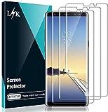L K 3 Pack Protector de Pantalla para Samsung Galaxy Note 8, HD Película Flexible Transparente [Película de TPU] [Sin Burbujas] [Funda Compatible] [Sin Bordes Levantados] [Instalación Fácil]