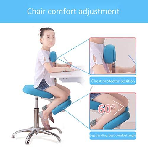 Kneeling stoel QIQIDEDIAN Ergonomische Ergonomische bureaustoel verstelbare kruk, bevorderen goede houding, Geschikt voor kinderen (1.1-1.4m) QIQIDEDIAN