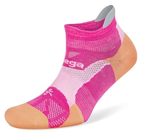 Balega Hidden Dry Moisture-Wicking Socks For Men and Women (1 Pair),Electric Pink/Peach, Medium