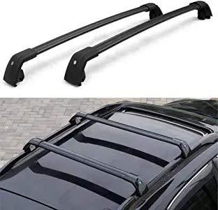 KPGDG Fit for Lincoln MKC 2015 2016 2017 2018 2019 Lockable Crossbar Baggage Luggage Racks Roof Racks Rail Cross Bar - Black