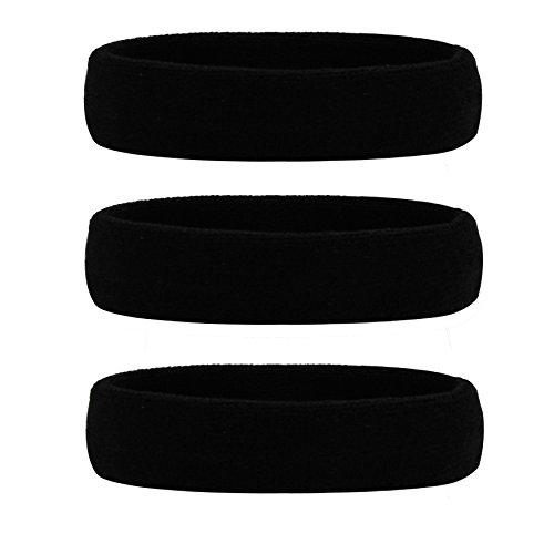 HANERDUN Sport Stirnband Damen Herren Schweißbänder Kopf Stirn Baumwolle Frottee Kopfband Sport für Laufen Fahrrad Joggen Tennis Fußball