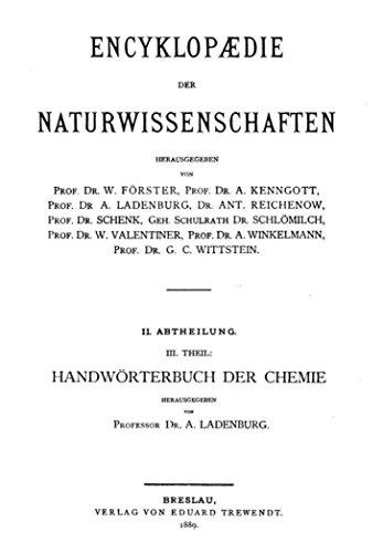 Handwörterbuch der Chemie (English Edition)