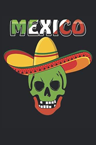 MEXICO: Liniert, kariert und punktiertes Notizbuch-Tagebuch bzw. Übungsbuch mit 120 Seiten