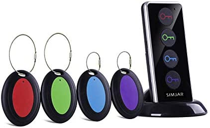 Key Finder with Extra 4 Long Chains Simjar Wireless Remote Control RF Key Finder Locator for product image