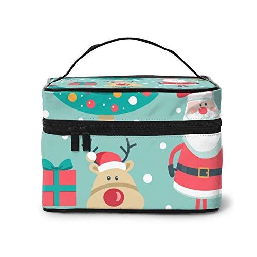 Women's Travel Organization Beauty Cosmetic Make up,Storage Lady Wash Bags Christmas Cute Illustration Handbag Pouch
