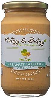 Nutzz and Butzz Peanut Butter - Creamy - (100% Natural, No Sugar, No Preservatives) [345 Grams]