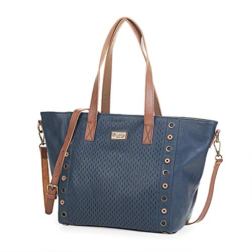Lois - Bolso de Mujer Grande Tipo Shopping con Asas y Bandolera....