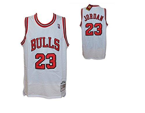 Canotta Bianca NBA Retro Vintage - Michael Jordan - Chicago Bulls - Taglia XL