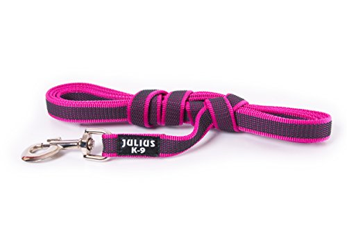 Julius-K9 Guinzaglio super presa Color & Gray con manico, 20 mm x 3 m, rosa