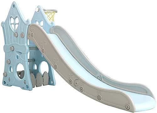 Slide, 4 en 1 niño escalador de diapositivas Conjunto con aro de baloncesto, del arrastre por el espacio, fácil subir escaleras, diapositivas niños tanto for interiores como al aire libre uso (Color: