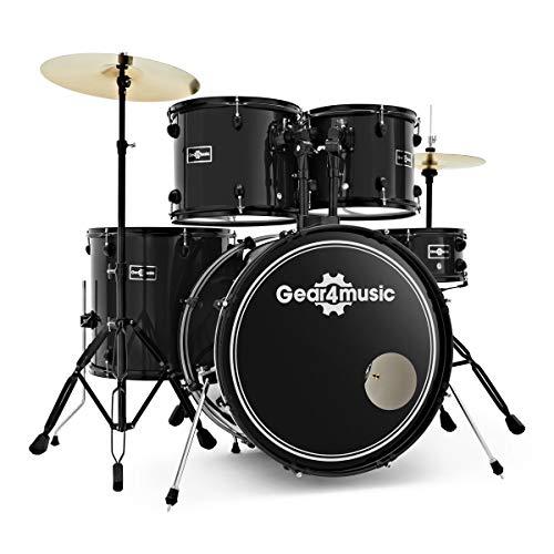 Batería de Principiante Tamaño Completo BDK-1 de Gear4music Black