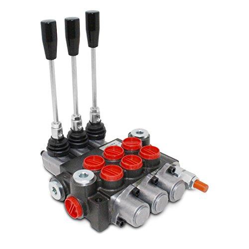 Monoblock Hydraulic Directional Control Valve, 3 Spool, 11 GPM, SAE Ports