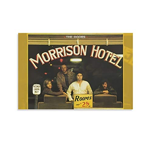 AIIKA Jim Morrison The Doors Band 1969 Photo Morrison Hotel Hard Rock Canvas Art Poster and Wall Art Picture Print Modern Family Bedroom Decor Posters 12x18inch(30x45cm)