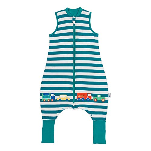 Schlummersack Schlafsack mit Füßen Sommer 1 Tog 100 cm dünn Autos | Kinder Schlafsack mit Beinen und verlängerten Bündchen für eine Körpergröße 100-110cm | Schlummersack mit Füßen 1 Tog