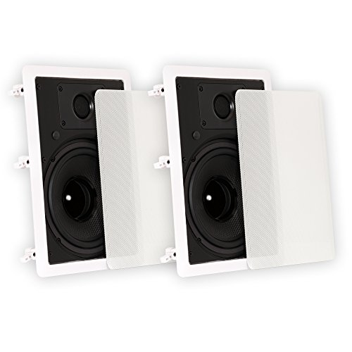 Theater Solutions TS80W in Wall 8' Speakers Surround Sound Home Theater Pair