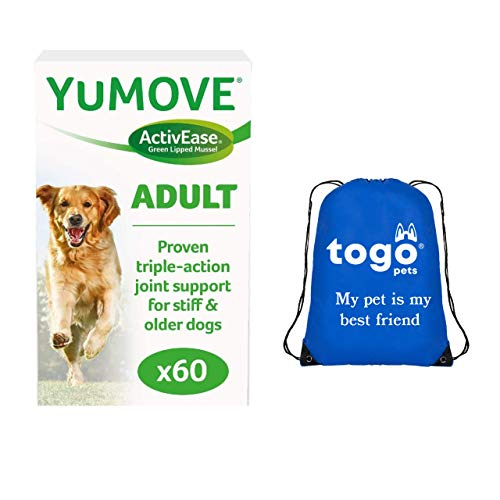 Yumove Old Dog Supplements (60 Tablets): Hip and Joint Care for Dogs + Pet Bag