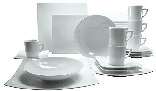 Creatable, 17092, New Elegance, Service de Table 30 piéces, Porcelain, Multicolor, 42 x 37 x 32 cm
